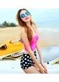 Angelsin Yüksek Bel Destekli Bikini Takımı Renkli
